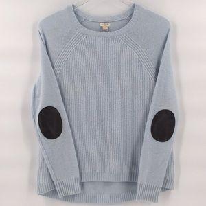 J. Crew Merino Wool Ribbed Elbow Patch Sweater XS